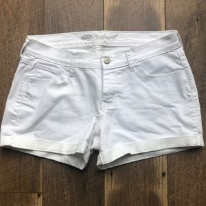 Old Navy white jean shorts.